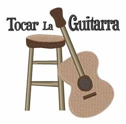 Tocar la Guitarra embroidery design