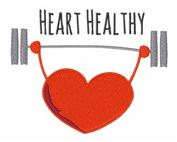 Heart Healthy embroidery design