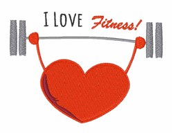 Love Fitness embroidery design
