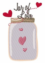 Jar of Love embroidery design