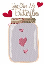Give Butterflies embroidery design