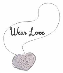 Wear Love embroidery design