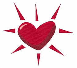 Heart Burst embroidery design