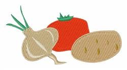Vegetables embroidery design