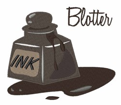 Ink Blotter embroidery design