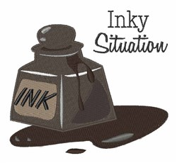 Inky Situation embroidery design