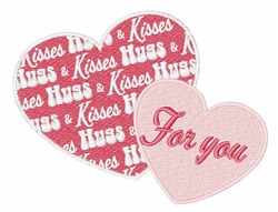 For You Heart embroidery design