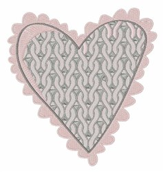 Knit Heart embroidery design