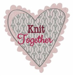 Knit Together embroidery design