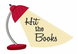 Hit the Books embroidery design