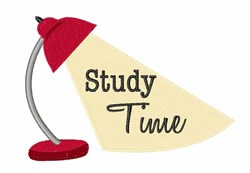 Study Time embroidery design