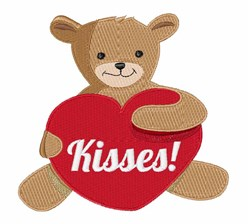 Teddy Kisses embroidery design