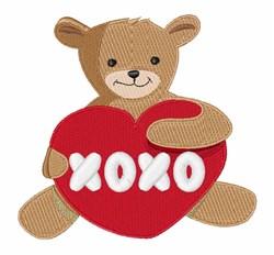 Teddy xoxo embroidery design