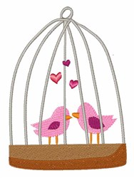Bird Cage embroidery design