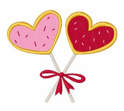 Heart Lollipop embroidery design