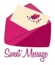 Sweet Message embroidery design