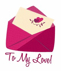To My Love embroidery design