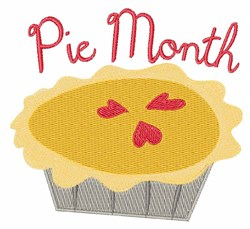 Pie Month embroidery design