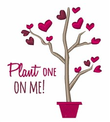 Plant One embroidery design