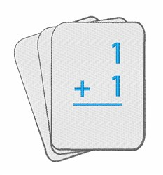 Math Flashcards embroidery design