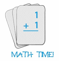 Math Time embroidery design