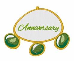Anniversary Bracelet embroidery design