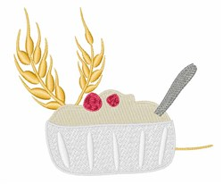 Oatmeal Bowl embroidery design