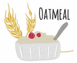 Oatmeal embroidery design