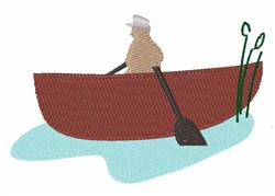 Row Boat embroidery design