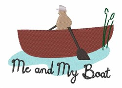 My Boat embroidery design