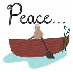 Peace...Boat embroidery design