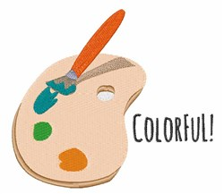 Colorful Palette embroidery design