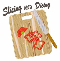 Slicing and Dicing embroidery design