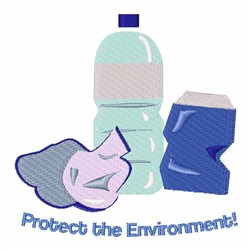 Protect the Environment embroidery design