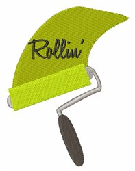 Rollin Paint embroidery design