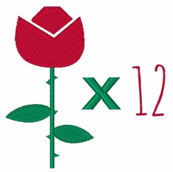 Roses x 12 embroidery design