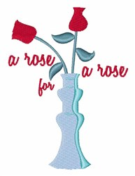 Rose for Rose embroidery design