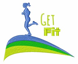 Get Fit embroidery design