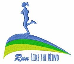 Run Wind embroidery design