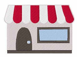 Storefront Building embroidery design