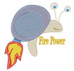 Fire Power embroidery design