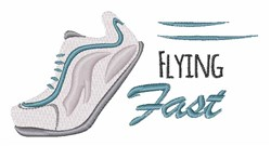 Flying Fast embroidery design