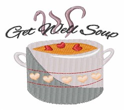 Get Well Soup embroidery design