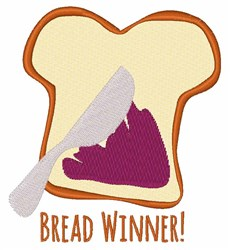 Bread Winner embroidery design
