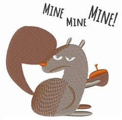 Squirrel Mine embroidery design