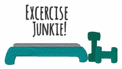 Exercise Junkie embroidery design