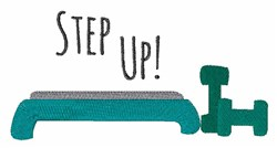 Step Up! embroidery design