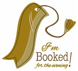 Booked for the Evening embroidery design