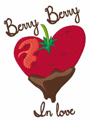 Berry in Love embroidery design