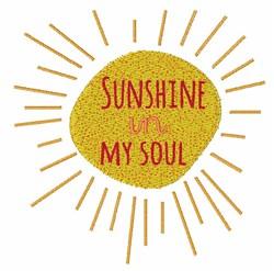 Sunshine Soul embroidery design